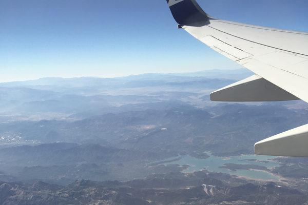 Aus dem Flugzeug